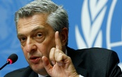UN High Commissioner for Refugees Filippo Grandi attends a news conference on Myanmar at the United Nations in Geneva, Switzerland, Sept 27, 2017. Reuters