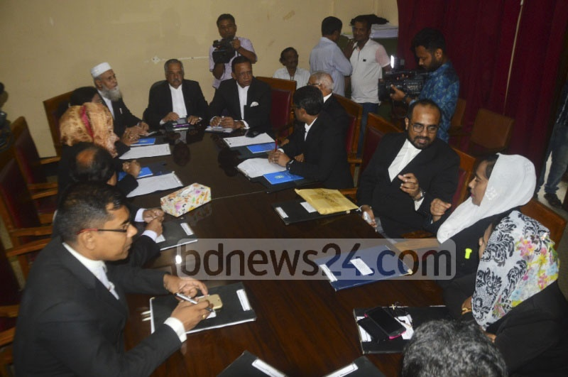 Supreme Court Bar Association's executive body held a meeting on Tuesday after Chief Justice SK Sinha went on a 30-day leave amid sharp reactions from ruling party stalwarts over the 16th amendment verdict.