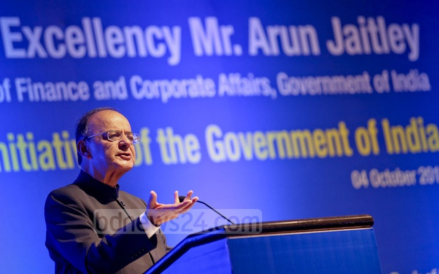 India's Finance Minister Arun Jaitley. Photo: md asaduzzaman pramanik