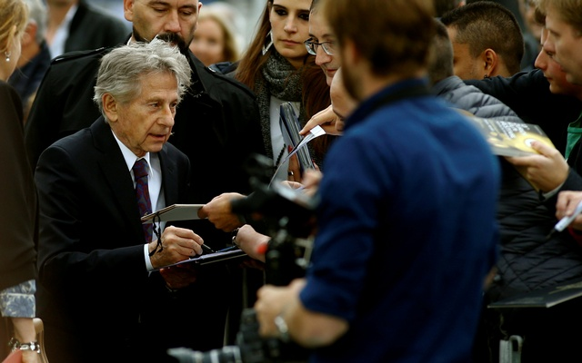 Director Roman Polanski talks to the media as he arrives to present his movie D'apres une histoire vraie at the Zurich Film Festival in Zurich, Switzerland October 2, 2017.