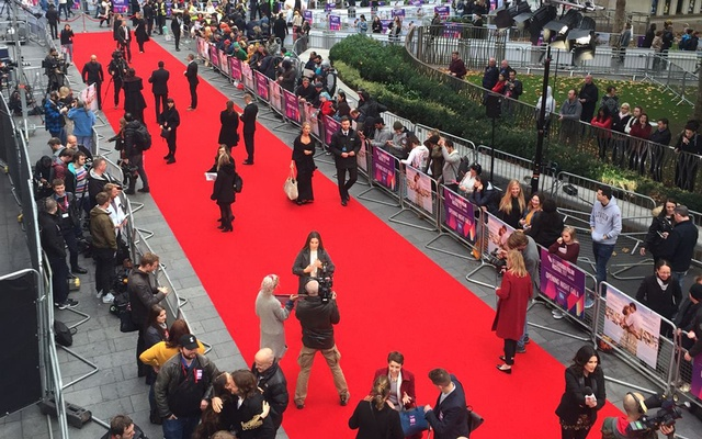 Strikes and demonstrations are set to continue throughout the star-studded 12-day film festival, says the entertainment union. Photo: Twitter/BFI