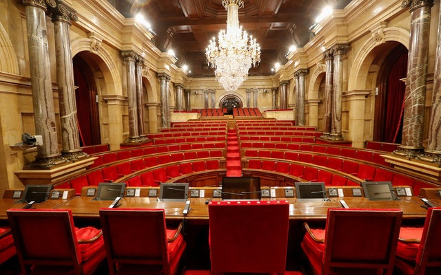 The chamber of the Parliament of Catalonia is seen in Barcelona, Spain, October 5, 2017. Reuters