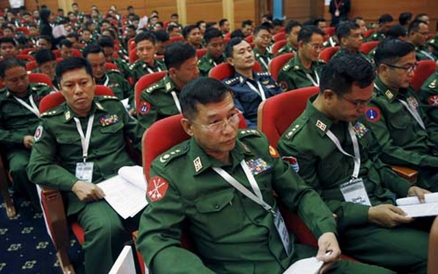 Myanmar Army officers. Reuters File Photo