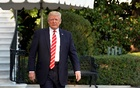 US President Donald Trump walks out from the White House in Washington before his departure to Greensboro, North Carolina, US, Oct 7, 2017. Reuters
