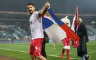 2018 World Cup Qualifications - Europe - Serbia vs Georgia - Rajko Mitic Stadium, Belgrade, Serbia - October 9, 2017. Serbia's Aleksandar Mitrovic celebrates World Cup qualification after the match. Reuters