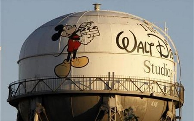 A view of the water tower at The Walt Disney Co., featuring the character Mickey Mouse, is seen at the company's headquarters in Burbank, California, February 7, 2011. Reuters