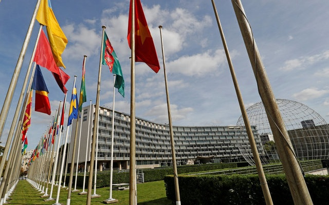 FILE PHOTO: A general view shows the headquarters of the United Nations Educational, Scientific and Cultural Organization (UNESCO) in Paris, France, October 4, 2017. Reuters