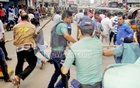 A BNP protest march in Barisal against the warrants issued for party chief Khaleda Zia was broken up by police on Saturday.