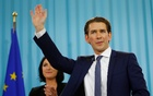 Top candidate of the People's Party (OeVP) Sebastian Kurz attends his party's victory celebration meeting in Vienna, Austria, Oct 15, 2017. Reuters