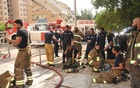 The scene of the fire in Al-Salmiyah. Photo courtesy of Kuwait News Agency.