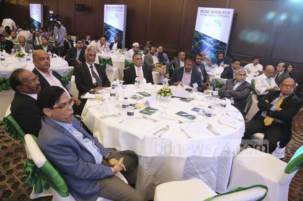 Besides top stock exchange officials, representatives of merchant banks, asset management firms, stock dealers, banks, non-banking financial institutions, insurance companies and issue managers were present at the roadshow. Photo: md asaduzzaman pramanik
