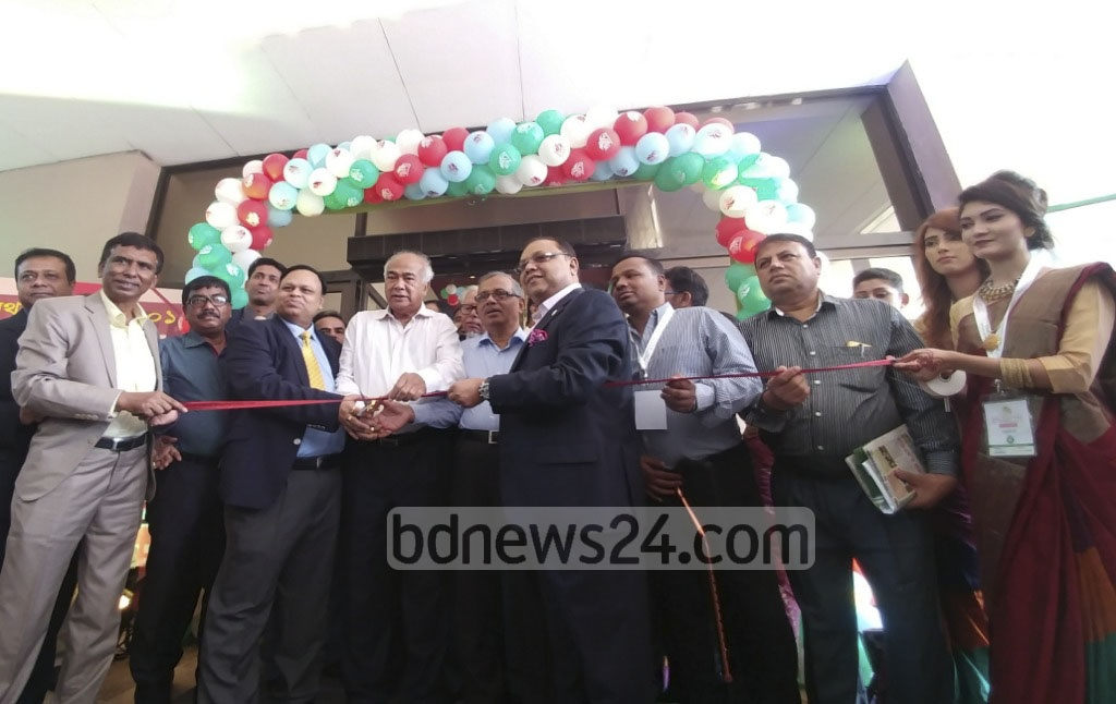 Housing and Public Works Minister Mosharraf Hossain inaugurates the Housing Finance Fair organised by Housing and Building Research Institute at Hotel Sonargaon in Dhaka on Thursday. Photo: abdul mannan