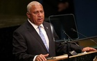 Prime Minister Frank Bainimarama of Fiji addresses the 71st United Nations General Assembly in Manhattan, New York, US, September 20, 2016. Reuters
