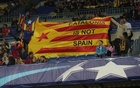 Champions League - FC Barcelona vs Olympiacos - Camp Nou, Barcelona, Spain - October 18, 2017 Fans in the stands display the Estelada (Catalan flag of independence). Reuters