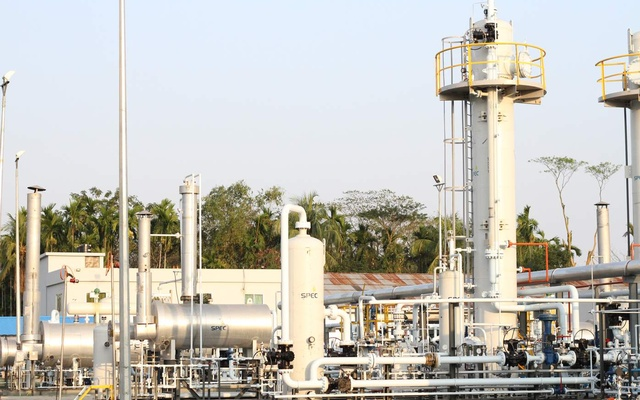 File photo shows the Shahbazpur gas field in Bhola.