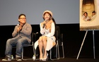 Malaysian filmmaker Edmund Yeo (L) and actress Daphne Low attend a post-screening Q&A session about their movie