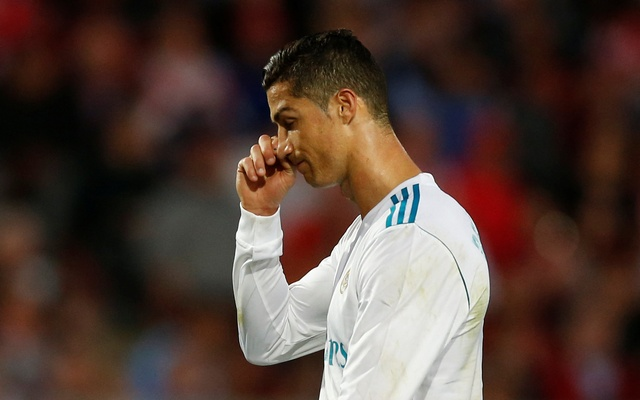 Liga Santander - Girona vs Real Madrid - Estadi Montilivi, Girona, Spain - Oct 29, 2017 Real Madrid's Cristiano Ronaldo looks dejected. Reuters