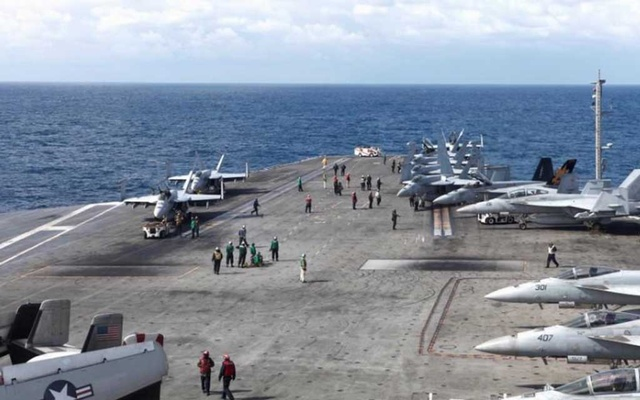 Three US carriers lead naval drill aimed at N. Korea