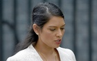 File photo: Former British aid minister Priti Patel, leaves after a cabinet meeting in Downing Street in central London, Britain Jun 27, 2016. Reuters
