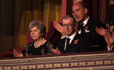 Prime Minister Theresa May and her husband Philip attend the annual Royal Festival of Remembrance at the Royal Albert Hall, in London, Britain Nov 11, 2017. Reuters