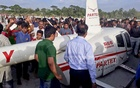 A helicopter of a private company crash landed after a mechanical failure at Narayanganj's Rupganj on Tuesday.