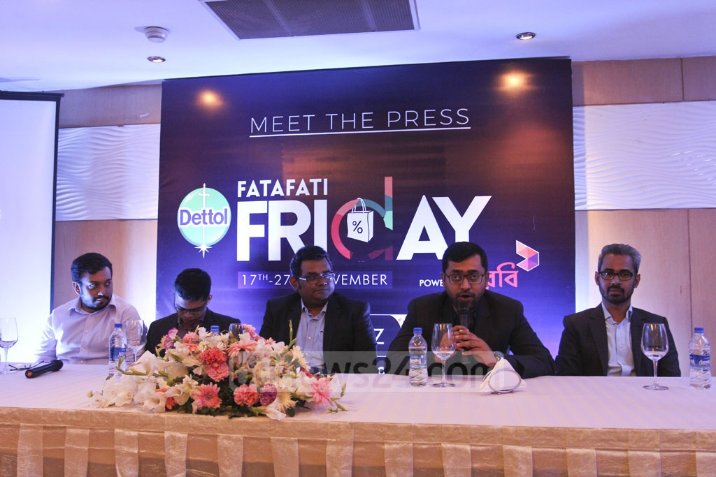 Daraz Bangladesh organises a news conference at a Dhaka hotel on Thursday over the launch of an offer, 'Fatafati Friday'. Photo: asif mahmud ove