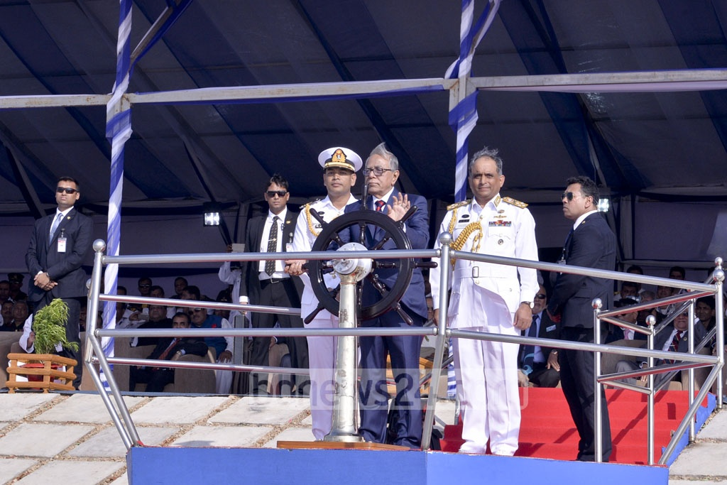 President Md Abdul Hamid inaugurates the Beach Carnival organised as part of Maritime Search and Rescue Exercise of Indian Ocean Naval Symposium in Cox's Bazar on Monday.