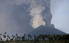 A view of Mount Agung volcano erupting from Culik village in Karangasem, Bali, Indonesia Nov 27, 2017. Reuters