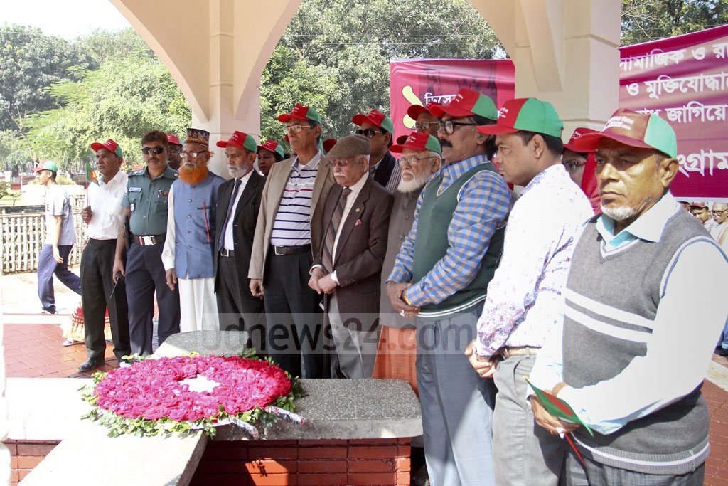 Several organisations paid their tributes at the Martyred Intellectuals Memorial in Dhaka on Friday. Photo: asif mahmud ove