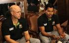 Richard Pybus and Mushfiqur Rahim. File Photo