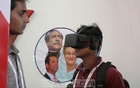 Some visitors would not miss the opportunity to watch the historic Mar 7 speech of Bangabandhu Sheikh Mujibur Rahman in virtual reality at the Digital World 2017 expo at Dhaka's Bangabandhu International Conference Centre on Thursday. Photo: asif mahmud ove