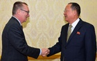 North Korea's Foreign Minister Ri Yong-Ho meets with Jeffrey Feltman, UN undersecretary-general for political affairs, in Pyongyang, North Korea, in this photo released by North Korea's Korean Central News Agency or KCNA, Dec 7, 2017. Reuters