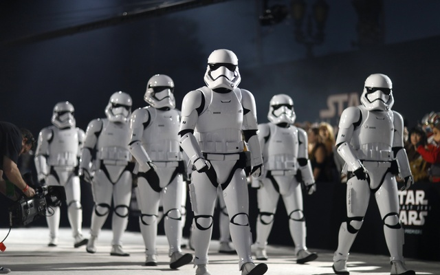 "File Photo: Storm Troopers walk in front of fans at the World Premiere of ""Star Wars: The Last Jedi"" – Arrivals – Los Angeles, California, US, Dec 9, 2017. Reuters"
