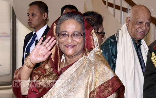 Prime Minister Sheikh Hasina left for Paris on Monday to join the the One Planet Summit, where world leaders will discuss ways to accelerate efforts to fight climate change. Photo: Saiful Islam Kallol