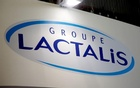 Logo of the dairy group Lactalis are seen at the food exhibition Sial in Villepinte, near Paris, France, October 17, 2016. Reuters