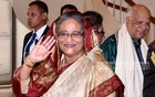 Sheikh Hasina at Dhaka airport