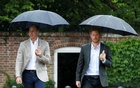 FILE PHOTO: Britain's Prince William, Duke of Cambridge and Prince Harry visit the White Garden in Kensington Palace in London, Britain August 30, 2017. Reuters