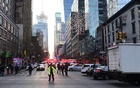 Police and fire crews block off the streets near the New York Port Authority in New York City, US December 11, 2017 after reports of an explosion. Reuters