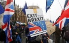 Anti Brexit protesters demonstrate outside the Houses of Parliament in London, Britain December 11, 2017. Reuters