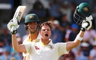 Australia v England - Ashes Test match - WACA Ground, Perth, Australia, December 16, 2017 - Australia's captain Steve Smith celebrates with team mate Mitchell Marsh after reaching his double century during the third day of the third Ashes cricket Test match. Reuters