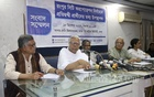 A civil society group, SHUJAN, holds a press conference to present information about the nominees for the Rangpur City Corporation polls at the Dhaka Reporters Unity on Monday.