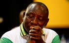 Newly elected president of the ANC Cyril Ramaphosa during the 54th National Conference of the ruling African National Congress (ANC) at the Nasrec Expo Centre in Johannesburg, South Africa Dec 18, 2017. Reuters