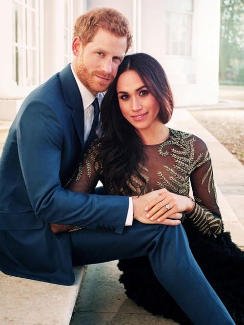 One of two official engagement photos released by Kensington Palace of Prince Harry and Meghan Markle, at Frogmore House in Windsor, Britain December 21, 2017. Picture taken in the week commencing December 17, 2017. Alexi Lubomirski/Courtesy of Kensington Palace/Handout via Reuters