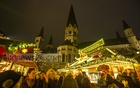 The Weihnachtsmarkt in Bonn remains busy, even on the day before Christmas. Photo: Mostafigur Rahman