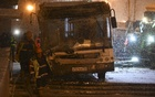 A view shows the scene of an incident involving a passenger bus, which swerved off course and drove into a busy pedestrian underpass, in Moscow, Russia Dec 25, 2017. Reuters
