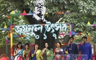 A group of students from the Faculty of Fine Arts rendering songs at the two-day Zainul Festival 2017 organised at the Faculty premises at Dhaka University on the occasion of the 103rd birthday of legendary painter Zainul Abedin. Photo: dipu malakar