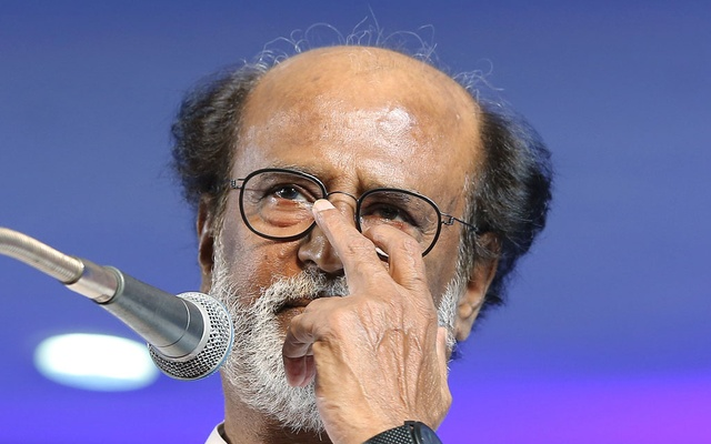 Actor Rajinikanth addresses after announcing the launch of his political party in Chennai, India, Dec 31, 2017. Reuters