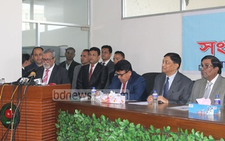 File Photo: CEC KM Nurul Huda announces the schedule of the elections to the Dhaka city corporations on Jan 9.