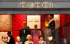 A Gucci sign is seen outside a shop in Paris, France, December 18, 2017. Reuters