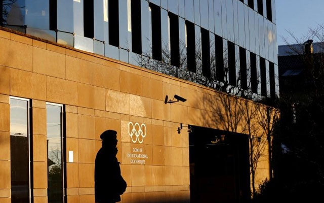The International Olympic Committee (IOC) headquarters is pictured on the day of an Executive Board meeting on sanctions for Russian athletes in Lausanne, Switzerland December 5, 2017. Reuters